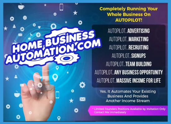 Run Any Business On Auto Pilot - 100% Hands Free - Auto Recruiting System.